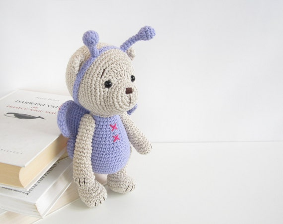 Amigurumi Arms And Legs : PATTERN: Teddy Bear in a Butterfly Costume by KristiTullus
