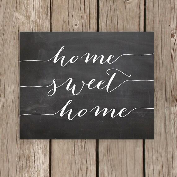 Home Decor Chalkboard: Items Similar To Home Sweet Home, Chalkboard Printable