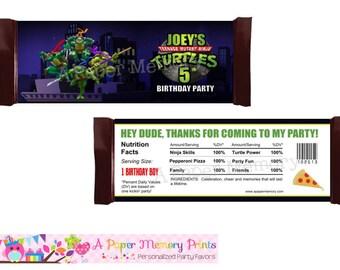 Teenage Mutant Ninja Turtles Candy Wrapper - DIY Printable