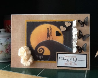 Large Nightmare Before Christmas Wedding Card