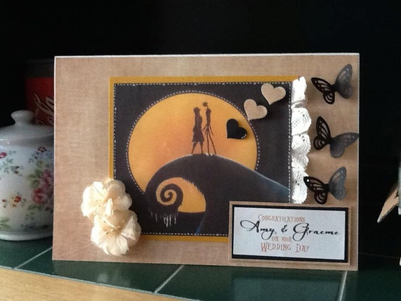 Large Nightmare Before Christmas Wedding By Papercraftsbybecky