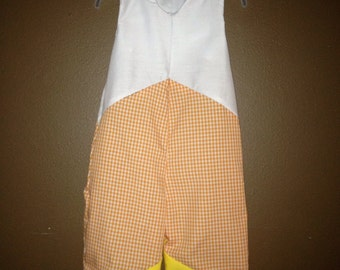 Candy Corn for boys Halloween Jon Jon, longalls, romper size  2t