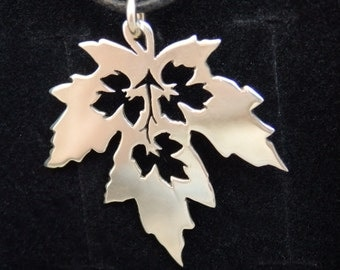 Maple Leaf - Sterling Silver Pendant