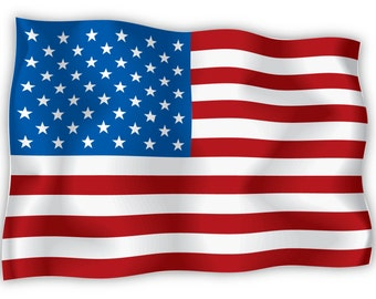 "USA United States of America US American flag sticker decal 6"" x 4"""