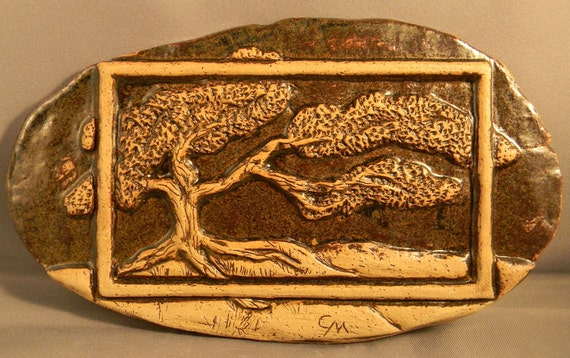 Items similar to carved tree relief sculpture with border