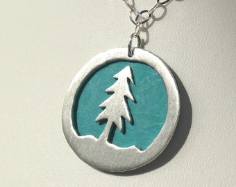 Pine Tree Necklace Handmade Sterling Silver Pine Tree Jewelry Silver Pine Tree Jewellery Nature Jewelry Nature Jewellery Nature Necklace