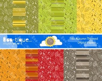 Autumn Digital Paper Instant Download. JPEG files. Autumn Scrapbooking Papers. Autumn Digital Scrapbook Papers. Seasonal Digital Papers