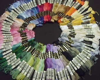 40 skeins DMC Cotton Embroidery Floss Kit - NO FAKES - 6-Strand Thread - Custom orders or seller's choice