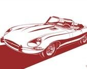 Jaguar E-Type Convertible (Series 1 / Series 2 / Series 3). Choose your Size, Material, Color, & Model Series