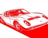 Lamborghini Miura Stylization. Choose your sizes, color(s), and materials