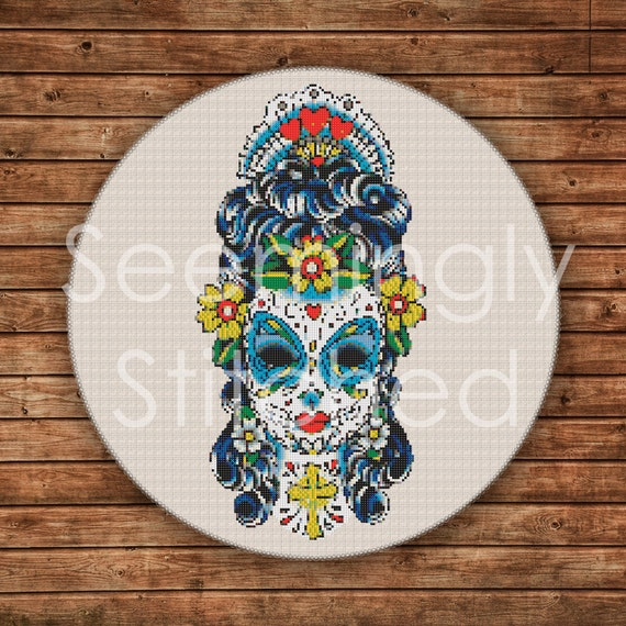 Cross Stitch Pattern - Sugar Skull