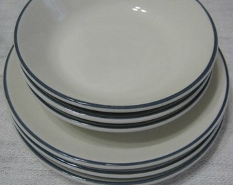 Homer Laughlin China - Best China - Lot of 6 - 3 Bowls - 3 Plates - Vintage Dinnerware - Vintage Tableware - Mid-Century