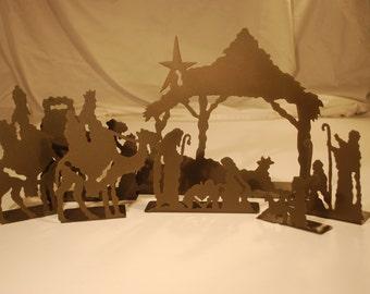 Rustic Nativity Set