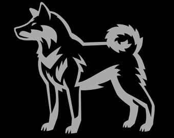 Cut Vinyl Shikoku Dog Decal