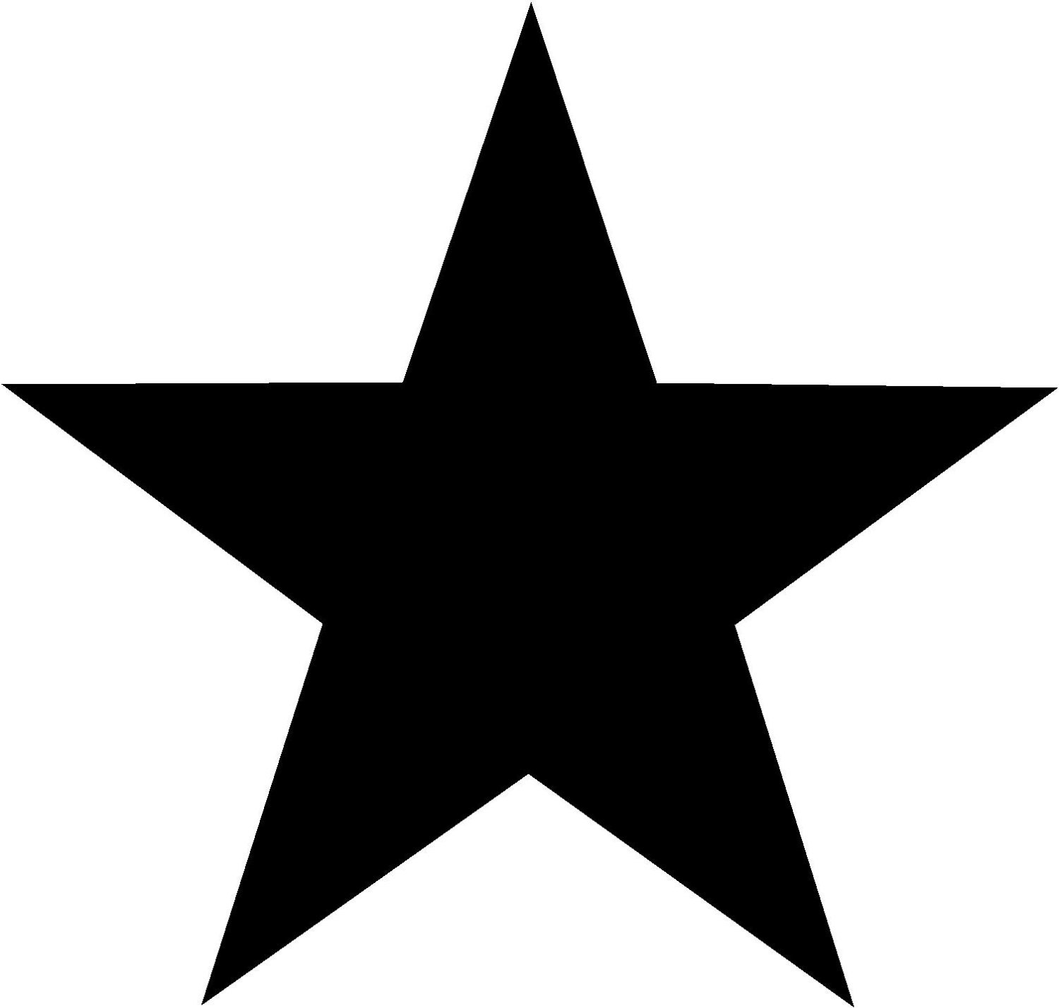 5 point star solid 5 inch vinyl decal perfect for windows for 5 star windows
