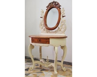 Ivory Vanity Table with carvings