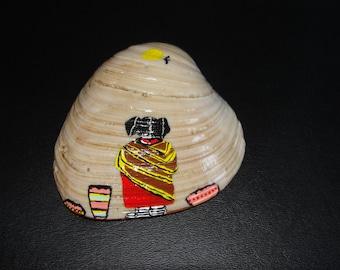 """Sale! Sea Shell Story Art, """"SQUASH BLOSSOM,"""""""