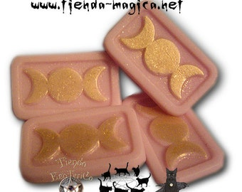 Pack of four mini soaps Triple Moon (the Triple Goddess)/pack of four mini Triple moon Soaps (triple Goddess)