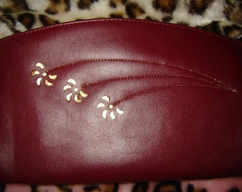 Vintage Burgundy envelope clutch on Sale