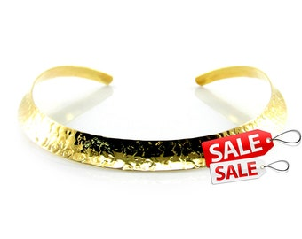 Gold Choker Nacklace Gold Collar Necklace Hammered Gold Necklace Brass Choker Necklace Gold Brass Necklace Gold Hammered Necklace 067