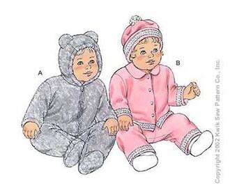 Sewing Pattern - Infant Pattern, Baby Pattern, Jacket Pattern, Pants Pattern, Hat Pattern- Kwik Sew #K3127