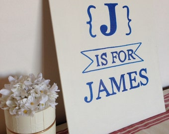 Personalized name wall art for child's bedroom