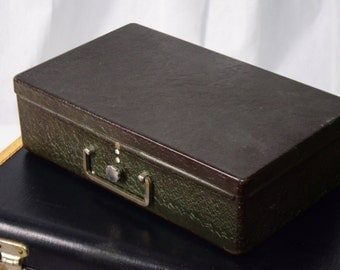 vintage metal lock box