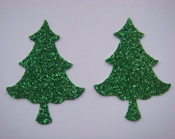 16 Glitter Christmas Tree die cuts for christmas cards toppers cardmaking scrapbooking craft projects