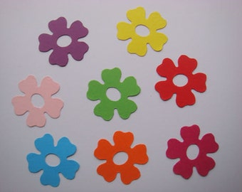 50 Bright sizzix Flower die cuts for cards/toppers - cardmaking scrapbooking