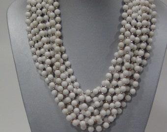 White Howlite Semi Precious Stone Necklaces- Wholesale Lot of 10