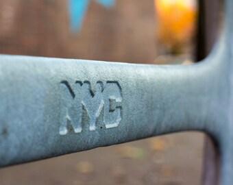 Brooklyn Bicycle Rack Sign