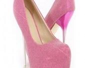 Shimmery pink Designer Heels