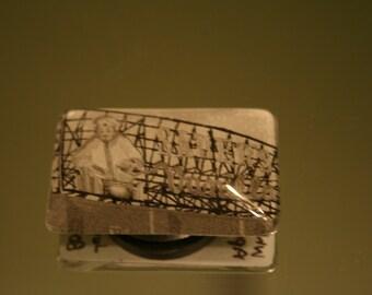 Unique Sauer's Vanilla Billboard Glass Magnet