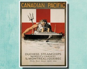 Canadian Pacific by P.A. Staynes- 1929 - Vintage Travel Poster SG4262