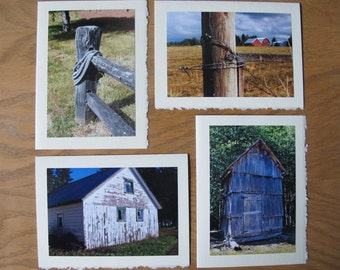 Rustic rural farm blank cards for teacher, get well, thinking of you, encouragement, sympathy, coworker, giftcard enclosure