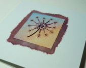 Seedhead hand embroidered card - Dandelion, Thistledown