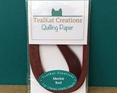 Merlot Red Quilling Paper