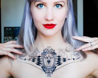 White Queen (Alice in Wonderland) Temporary Tattoo