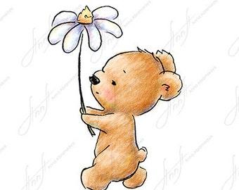 Easy Cute Bear Drawing The drawing of cute te...