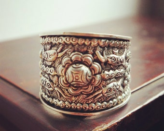 All silver/copper cuff bracelet