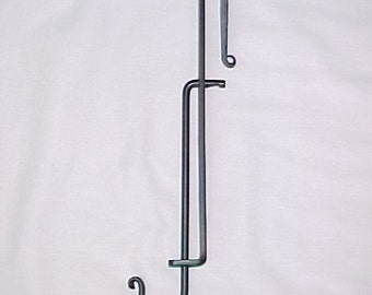 Trammel Hook for use with fireplace crane