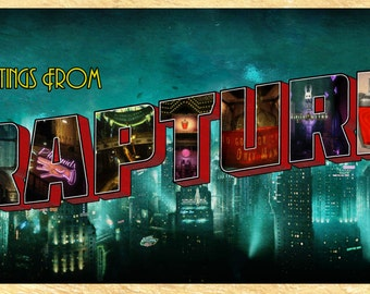 Greetings From Rapture - BioShock Poster