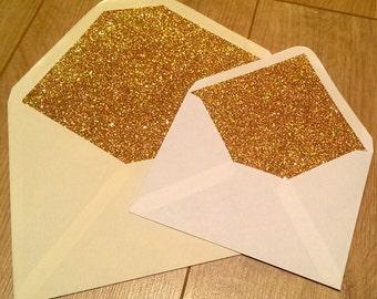 Glitter Lined Envelopes - Gummed x 100