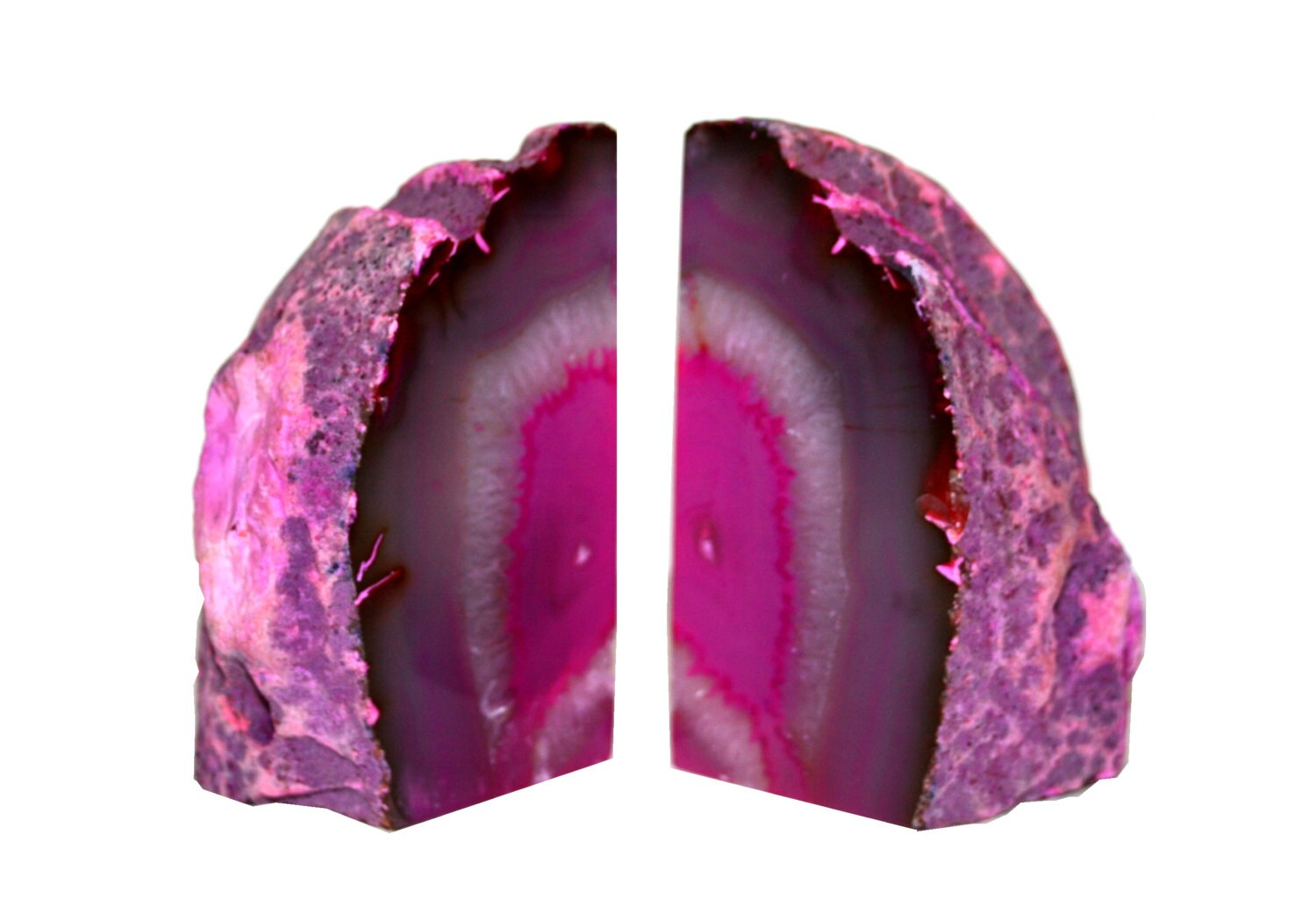 Geode bookends pink by vitrinelondon on etsy - Geode bookends ...