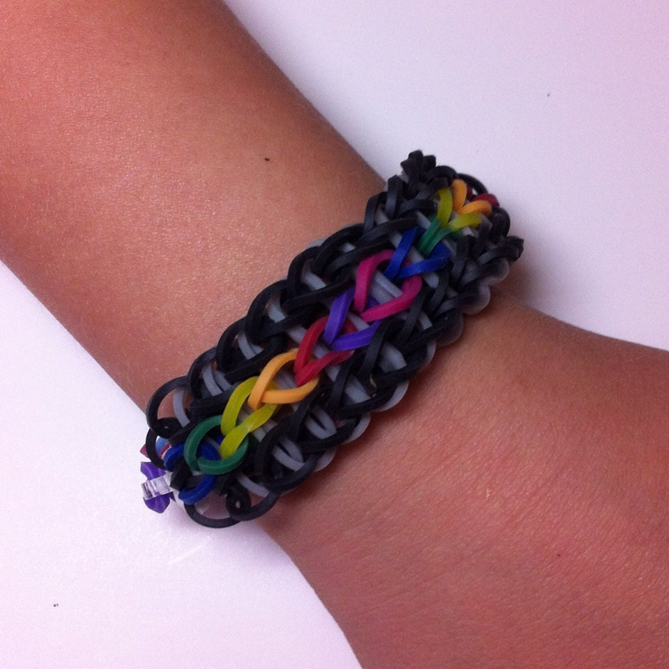 Triple Single Rainbow Loom Bracelet. Triple Single by LoomBrothers