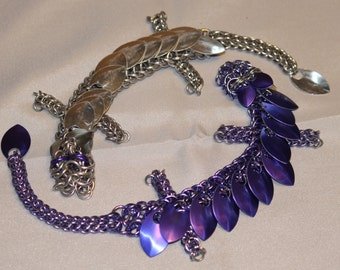 Large chainmaille dragon