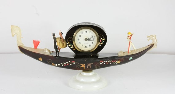 Wedding Gift Clock: German Gondola Clock Wedding Gift By Mercedes 1950's