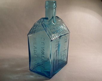 Vintage Bottle EG Booz's Old Cabin Whiskey 1840 Repro   S289