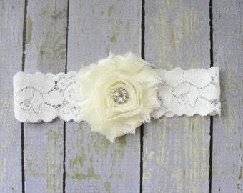 Garter, Bridal Garter, Wedding Garter, Toss Keepsake, Single Garter, Ivory Wedding, White Lace