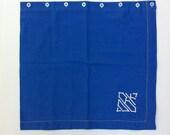 Vintage Upcycled Blue Monogram Pillow Sham - Handmade